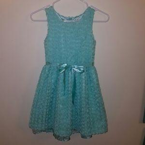 Frilly Blue Floral Dress